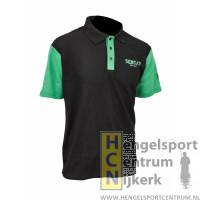 Sensas polo shirt club bic zwart met groen