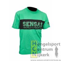 Sensas t-shirt bic groen met zwart