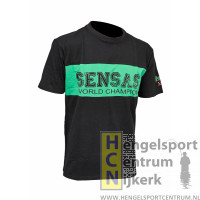 Sensas t-shirt bic zwart met groen