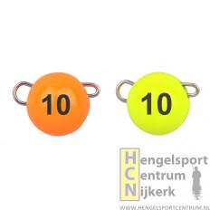 Spro Freestyle tungsten bottom jigs oranje/chartreuse