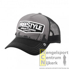 Freestyle pet trucker cap gray front