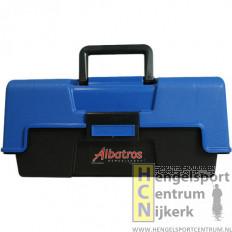 Albatros viskoffer blauw 2-ladig middel