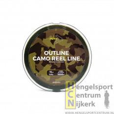 Avid Carp Outline Camo Reel Lijn 1000 meter