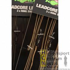 Korda Leadcore Leader Ring Swivel Weed/Silt