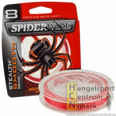 Spiderwire Stealth Smooth 8 Red Gevlochten Lijn