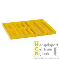 Rive vakverdeling geel