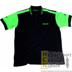 Sensas Polo Shirt Zwart met Groen