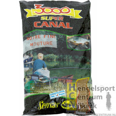Sensas 3000 kanaal zwart fijn gemalen per kg