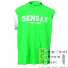 Sensas modieus t-shirt groen en wit