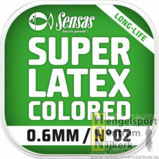 Sensas super latex gekleurd elastiek 6 meter