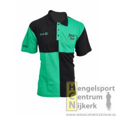Sensas poloshirt harlequin groen met zwart