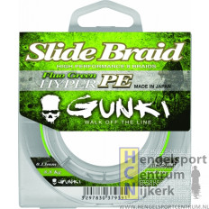 Gunki gevlochten lijn slide braid fluo green 125 meter