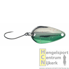 Gunki lepel Reinbo trout SWAY 2.5 gram FULL SILVER/GREEN SIDE