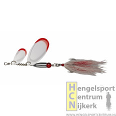 Pezon et Michel buck pike tandem spinner WHITE RED