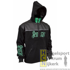 Sensas fleece vest club zwart/groen